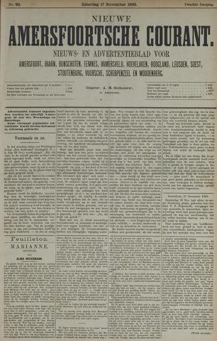 Nieuwe Amersfoortsche Courant 1883-11-17