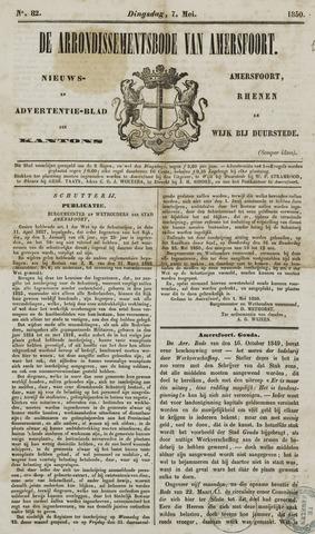 Arrondissementsbode van Amersfoort 1850-05-07