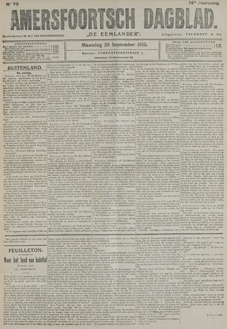 Amersfoortsch Dagblad / De Eemlander 1915-09-20