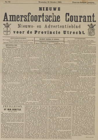 Nieuwe Amersfoortsche Courant 1903-10-21