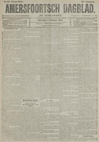 Amersfoortsch Dagblad / De Eemlander 1914-10-03