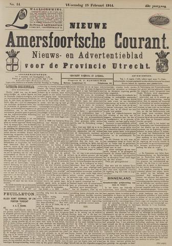 Nieuwe Amersfoortsche Courant 1914-02-18