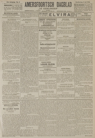 Amersfoortsch Dagblad / De Eemlander 1925-07-09