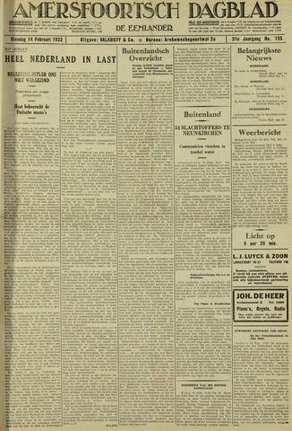 Amersfoortsch Dagblad / De Eemlander 1933-02-14