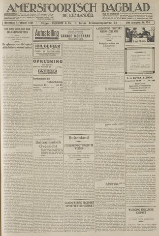 Amersfoortsch Dagblad / De Eemlander 1931-02-04
