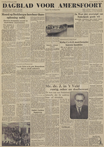 Dagblad voor Amersfoort 1948-02-18