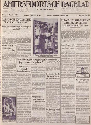 Amersfoortsch Dagblad / De Eemlander 1940-08-06