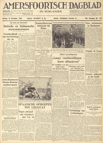 Amersfoortsch Dagblad / De Eemlander 1940-11-19