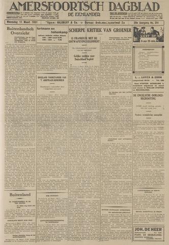Amersfoortsch Dagblad / De Eemlander 1931-03-11
