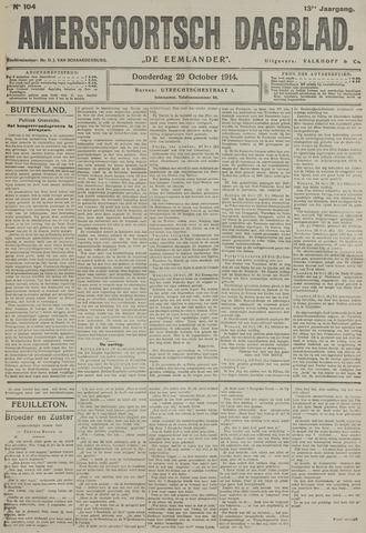 Amersfoortsch Dagblad / De Eemlander 1914-10-29