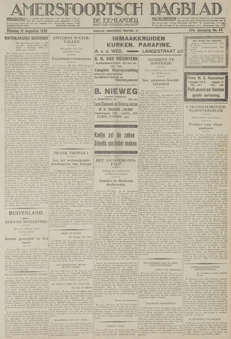 Amersfoortsch Dagblad / De Eemlander 1928-08-21