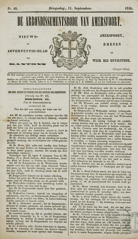 Arrondissementsbode van Amersfoort 1849-09-11