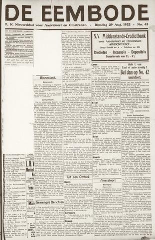 De Eembode 1922-08-29