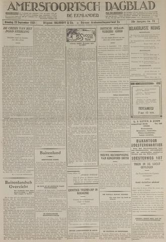 Amersfoortsch Dagblad / De Eemlander 1931-09-22