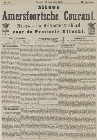 Nieuwe Amersfoortsche Courant 1918-09-21