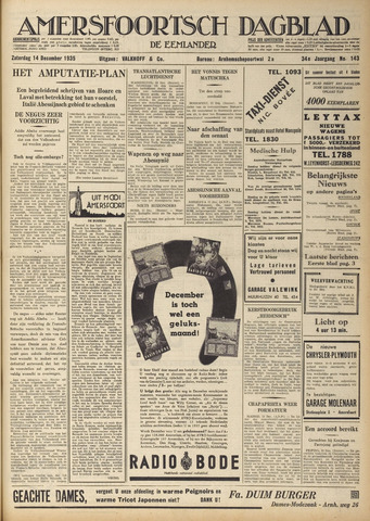 Amersfoortsch Dagblad / De Eemlander 1935-12-14