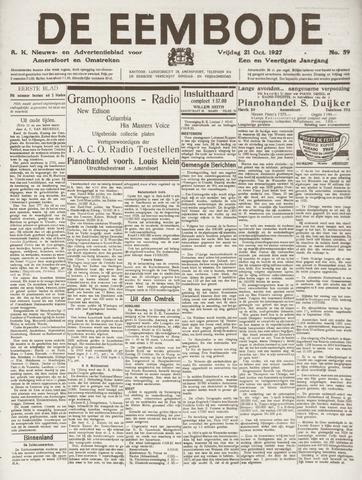 De Eembode 1927-10-21