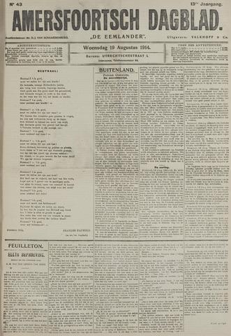 Amersfoortsch Dagblad / De Eemlander 1914-08-19