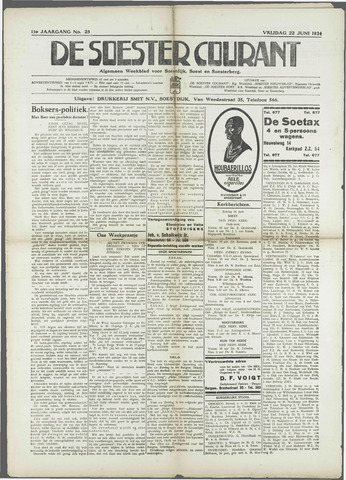 Soester Courant 1934-06-22