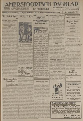 Amersfoortsch Dagblad / De Eemlander 1933-12-21