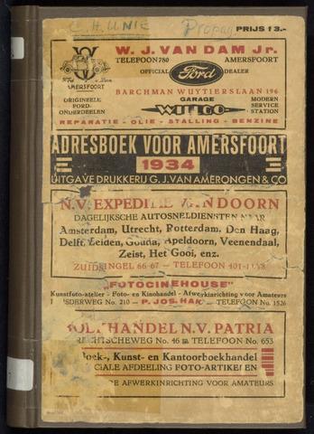 Adresboeken Amersfoort 1934