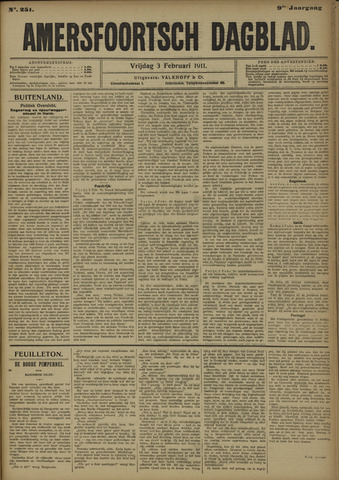 Amersfoortsch Dagblad 1911-02-03
