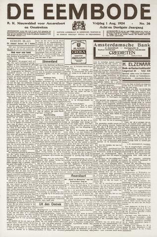De Eembode 1924-08-01