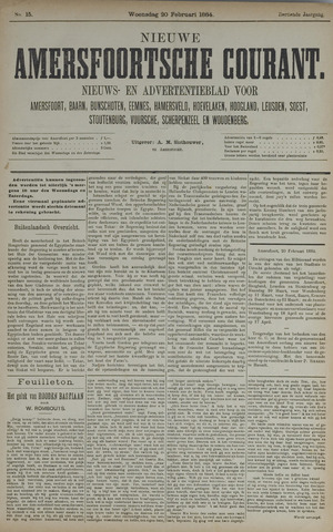 Nieuwe Amersfoortsche Courant 1884-02-20