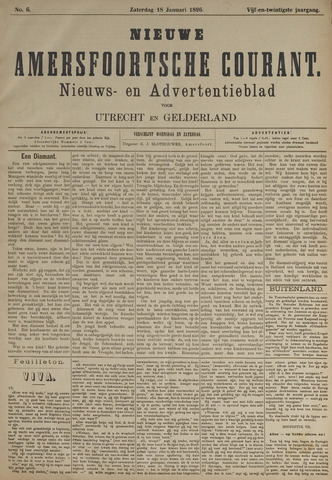 Nieuwe Amersfoortsche Courant 1896-01-18