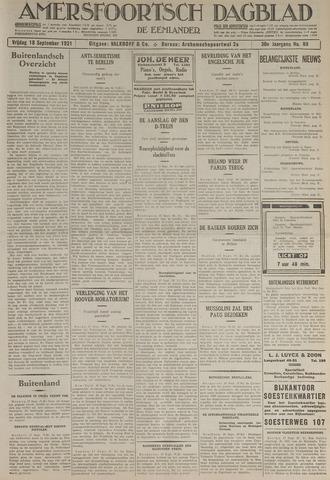Amersfoortsch Dagblad / De Eemlander 1931-09-18