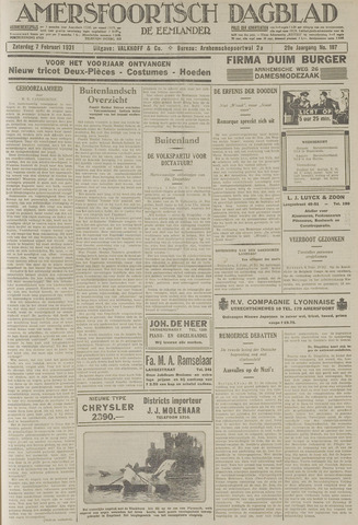 Amersfoortsch Dagblad / De Eemlander 1931-02-07