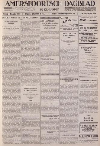 Amersfoortsch Dagblad / De Eemlander 1934-12-04