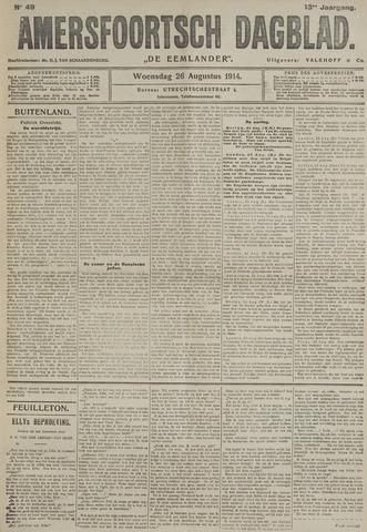 Amersfoortsch Dagblad / De Eemlander 1914-08-26