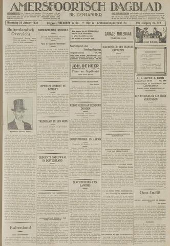 Amersfoortsch Dagblad / De Eemlander 1931-01-21