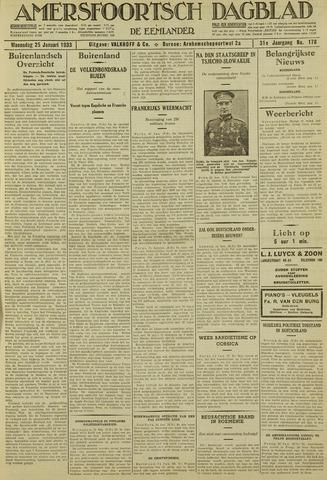 Amersfoortsch Dagblad / De Eemlander 1933-01-25