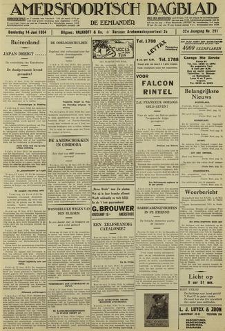 Amersfoortsch Dagblad / De Eemlander 1934-06-14