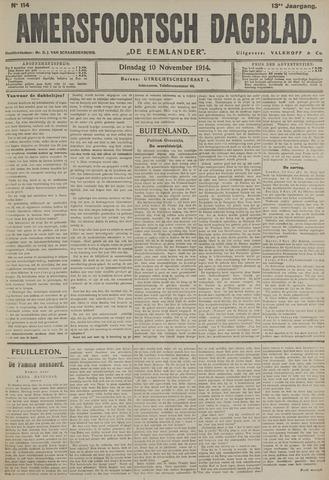 Amersfoortsch Dagblad / De Eemlander 1914-11-10