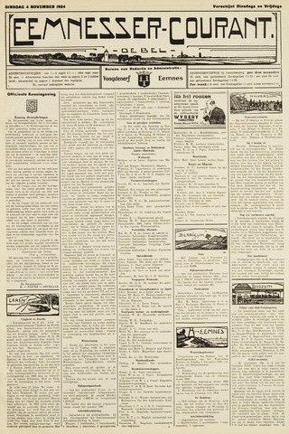 Eemnesser Courant 1924-11-04