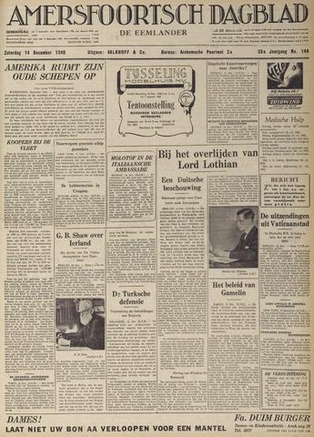 Amersfoortsch Dagblad / De Eemlander 1940-12-14