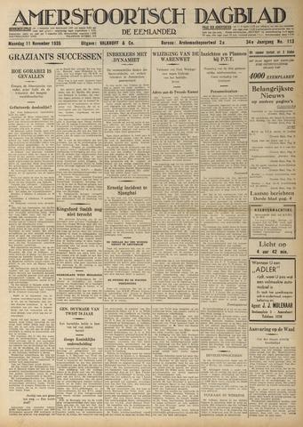 Amersfoortsch Dagblad / De Eemlander 1935-11-11