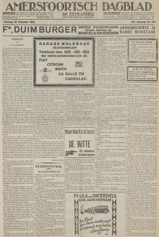 Amersfoortsch Dagblad / De Eemlander 1928-12-22