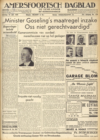 Amersfoortsch Dagblad / De Eemlander 1939-06-10