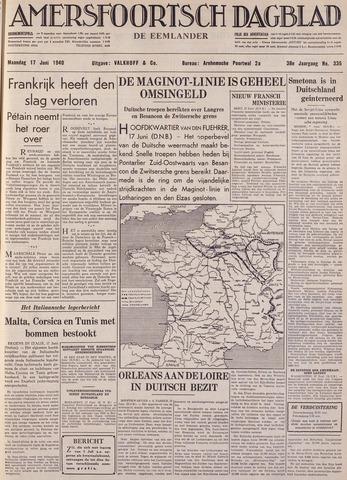 Amersfoortsch Dagblad / De Eemlander 1940-06-17
