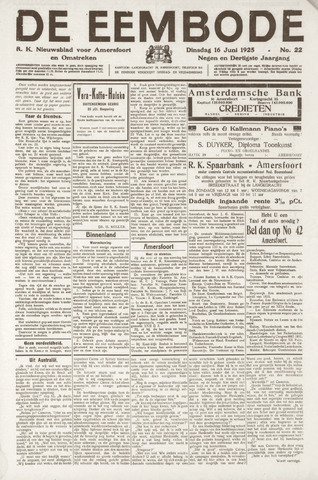 De Eembode 1925-06-16