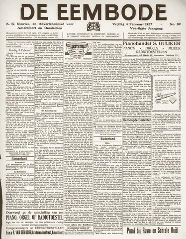 De Eembode 1927-02-04