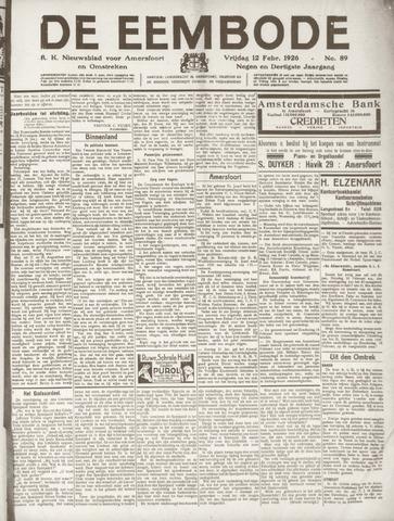 De Eembode 1926-02-12