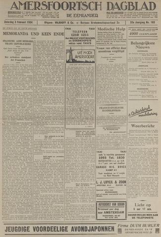 Amersfoortsch Dagblad / De Eemlander 1934-02-03