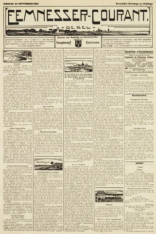 Eemnesser Courant 1924-09-23