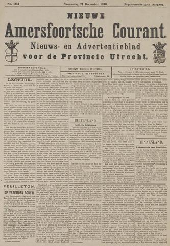Nieuwe Amersfoortsche Courant 1910-12-21