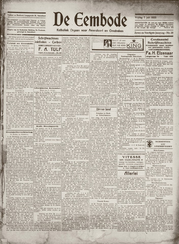 De Eembode 1933-07-07